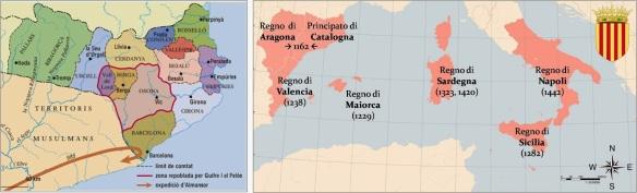 Comtats catalans + Corona d'Aragó